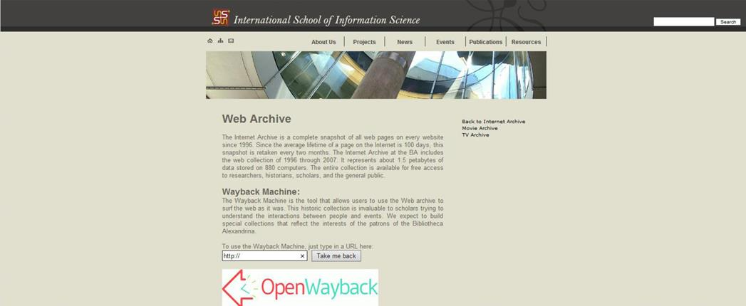 Internet Archive - Bibliotheca Alexandrina