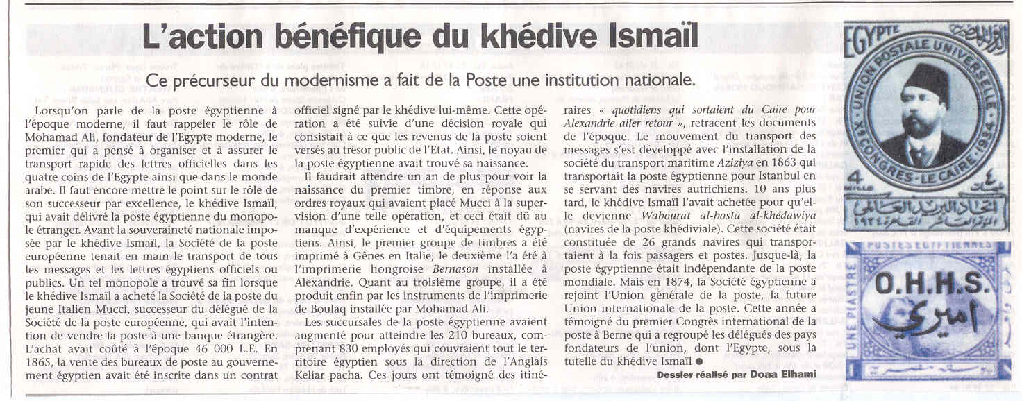 L ACTION BENEFIQUE DU KHEDIVE ISMAIL