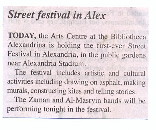 street festival in alex