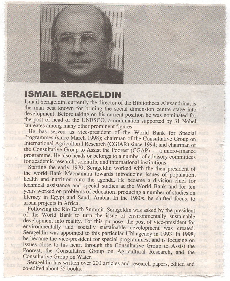 ISMAIL SERAGELDIN