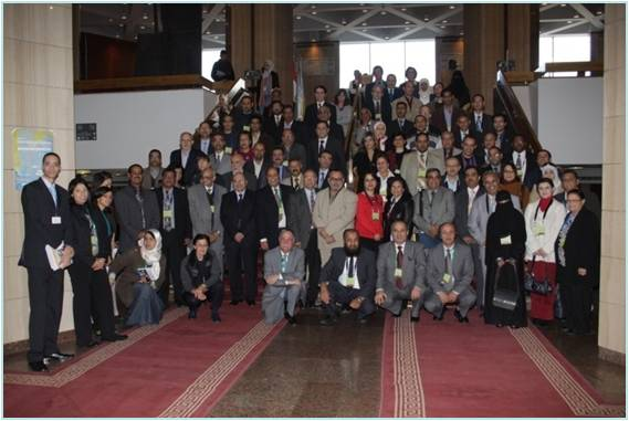 Gropu photo showing all the Pan Arab Biodiversity conference participants