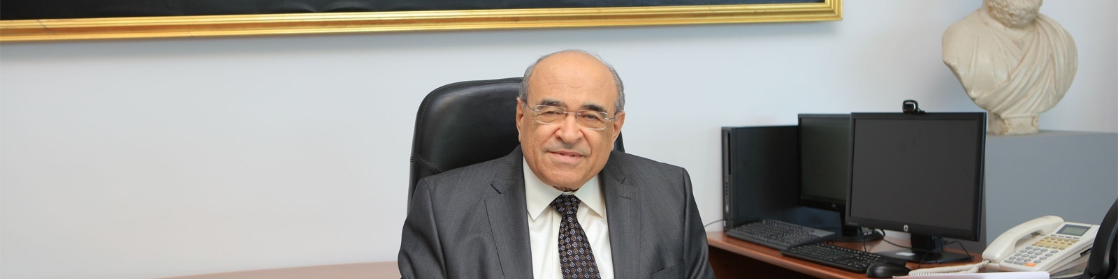 Dr. Mostafa el Feki Takes over His Duties as BA Director