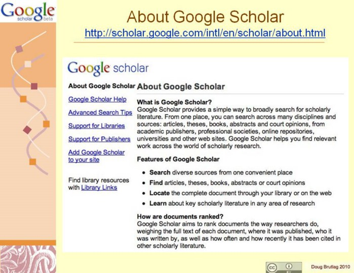 google scholar scholarly library articles papers publishers research resources Google, google scholar, and library databases each professional/trade and academic/scholarly information sources the library pays publishers.