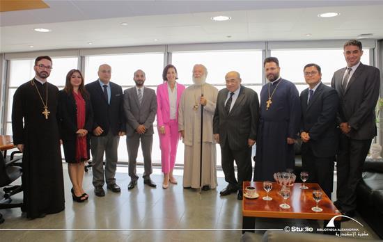 زيارة قداسة البابا ثيودوروس الثاني لمكتبة الإسكندرية – 17 يوليو 2019