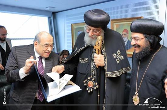 The Visit of His Holiness Pope Twadros II to the Bibliotheca Alexandrina - 10 February 2018