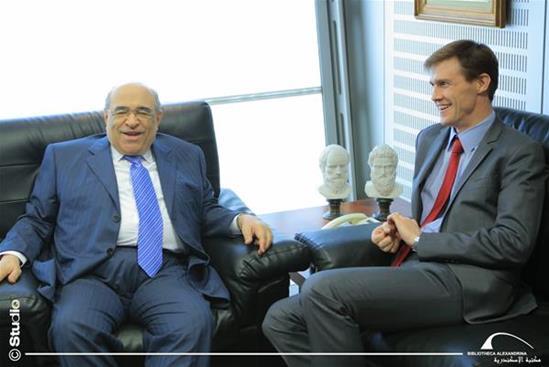 زيارة السفير البريطاني السابق لدى مصر لمكتبة الإسكندرية - 18 ديسمبر 2017