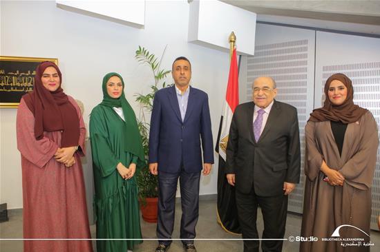 زيارة وفد رفيع المستوى من هيئة الشارقة للوثائق والأرشيف لمكتبة الإسكندرية – 13 نوفمبر 2019