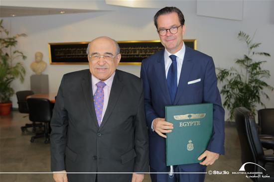زيارة سفير فرنسا بمصر ستيفان روماتيه لمكتبة الإسكندرية  - 13 نوفمبر 2019