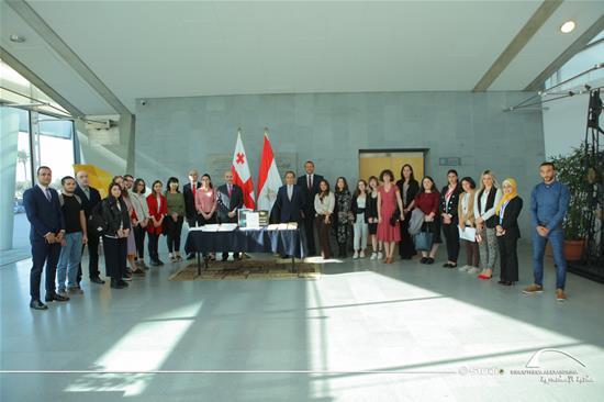 زيارة سفير جورجيا بمصر لمكتبة الإسكندرية - 19 نوفمبر 2019.