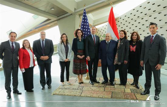 زيارة السفير الأمريكي بمصر جوناثان كوهين لمكتبة الإسكندرية - 15 يناير 2020.