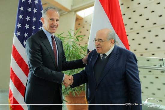 H.E. Jonathan Cohen, the United States Ambassador to Egypt, in a visit to the BA - 15 January 2020