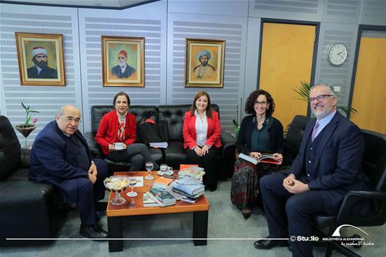 زيارة سفيرة كولومبيا لمكتبة الاسكندرية - 15 يناير 2020.