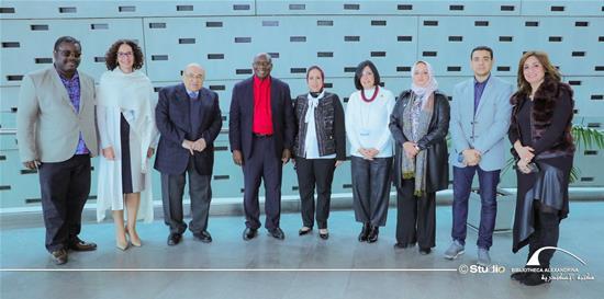 زيارة البروفيسور إيتيان إيهيلي لمكتبة الإسكندرية -18 فبراير 2020