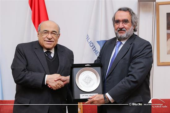 Dr. Abdelaziz bin Osman bin Saqr, Head of the Gulf Research Center, in a visit to the BA – 3 March 2020
