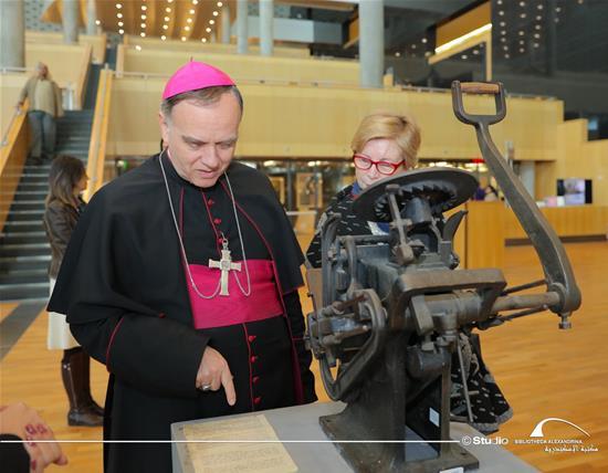 زيارة سفير الفاتيكان في مصر لمكتبة الإسكندرية - 5 مارس 2020