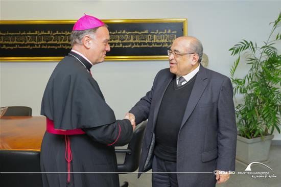 La visite de Monseigneur Nicolas Tiffinen, l'ambassadeur du Vatican en Egypte à la BA - 5 mars 2020