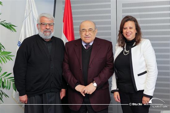 زيارة القمص انطونياس غطاس الأمين العام للمدارس الكاثوليكية لمكتبة الإسكندرية - 10 مارس 2020