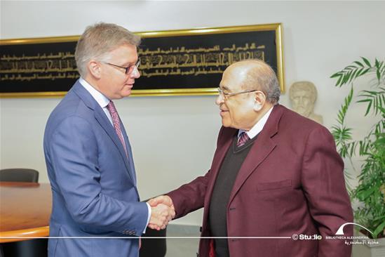 زيارة السيد جيس داتون سفير كندا لدى مصر لمكتبة الإسكندرية - 10 مارس 2020.