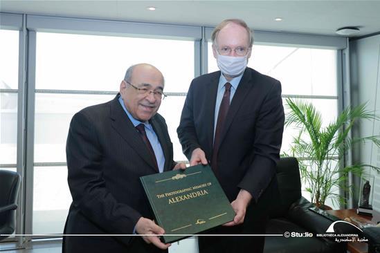 La visite du Chef de la délégation de l'Union Européenne en Égypte à la BA - le 7 octobre 2020