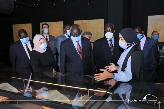 Le ministre de l'enseignement supérieur du soudan du sud en visite à la BA - le 21 octobre 2020