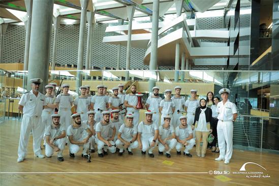 The French Navy's Folk Music Military Band in a Visit to the BA – 23 October 2020.