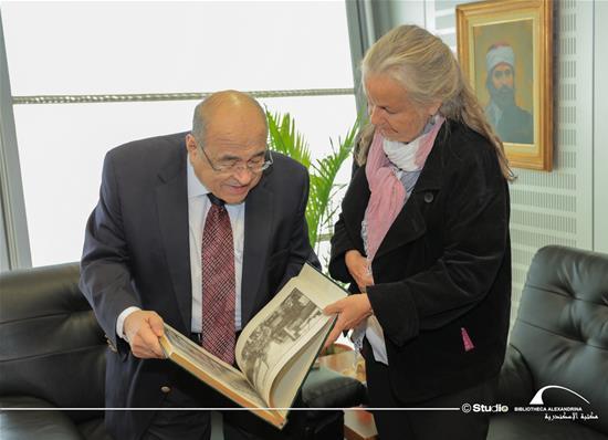 Mme Sabine Erlenwein, la directrice de l'Institut Goethe, en visite à la BA - 28 octobre 2020.