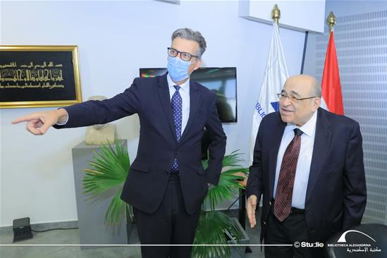 British Ambassador Sir Geoffrey Adams in a Visit to the BA – 28 October 2020.