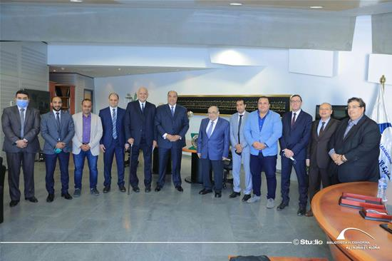 A Delegation of Al-Ittihad Alexandria Club in a Visit to the BA – 18 November 2020.