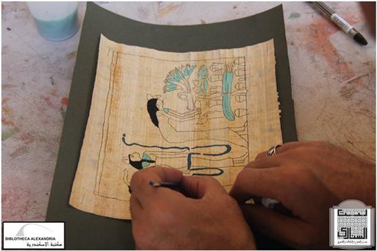 Dessin sur le papyrus